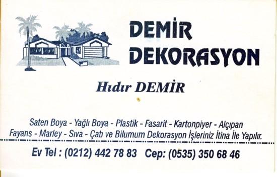 İstanbulda Boyacı Hıdır usta Dekorasyon işlerinizi yapar