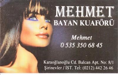 İstanbul Bahçelievlerde Bayan Kuaförü Mehmet