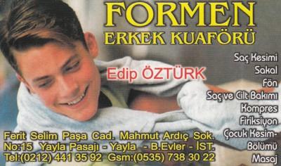 İSTANBUL/Bahçelievler/Erkek Kuaförü Edip Öztürkün yeri